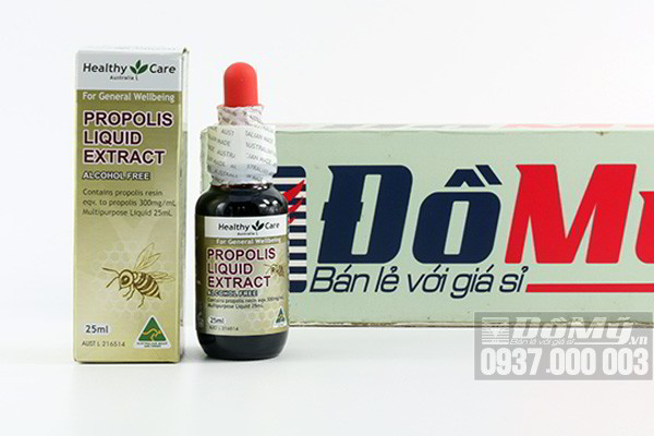 Keo ong Healthy Care Propolis Liquid Extract 25ml của Úc