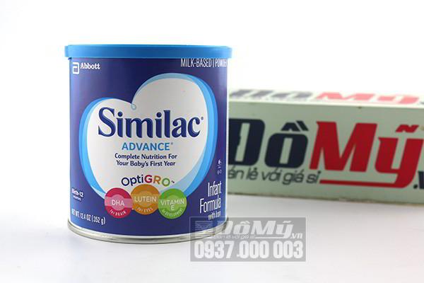 Sữa Similac Advance Infant Formula dành cho bé từ 0-12 tháng 352g của Mỹ
