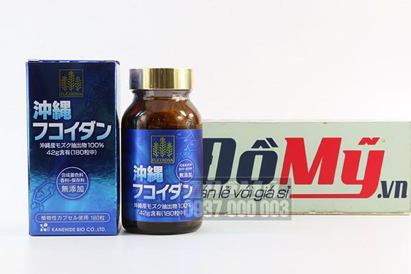 Hỗ trợ điều trị bệnh ung thư Okinawa Fucoidan Kanehide Bio 180 viên của Nhật Bản