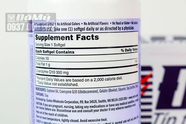 Viên uống Bổ Tim Mạch Kirkland Signature CoQ10 300 mg của Mỹ