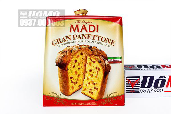 Bánh mì nho khô truyền thống Ý The Original Madi Gran Panettone 1 kg