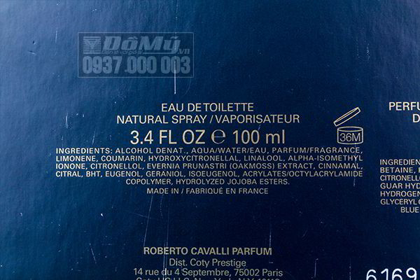 Gift set nước hoa Uomo By Roberto Cavalli của Ý