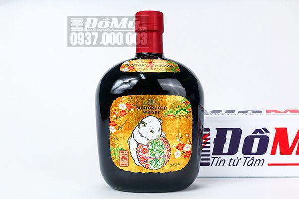 Rượu con chó Suntory Old Whisky 2018 700ml của Nhật Bản