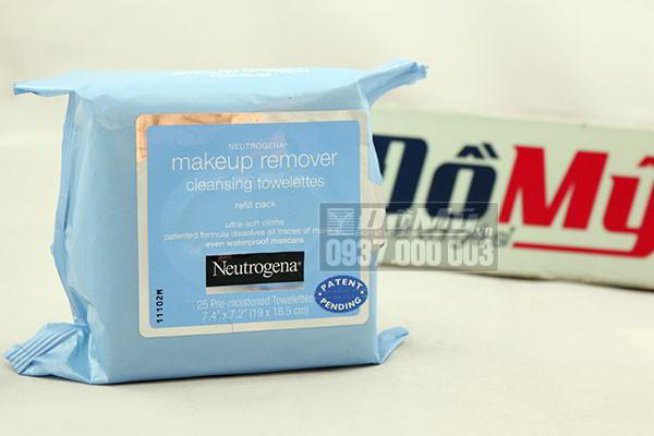 Khăn giấy tẩy trang Neutrogena Makeup Remove Cleasing Towelettes 25 tờ của Mỹ
