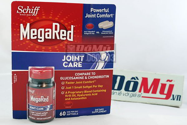 Viên bổ khớp Schiff MegaRed Joint Care của Mỹ 60 viên