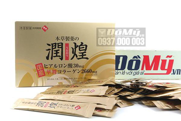 Collagen vàng sụn vi cá mập Hanamai Premium 2660mg  60 gói của Nhật Bản