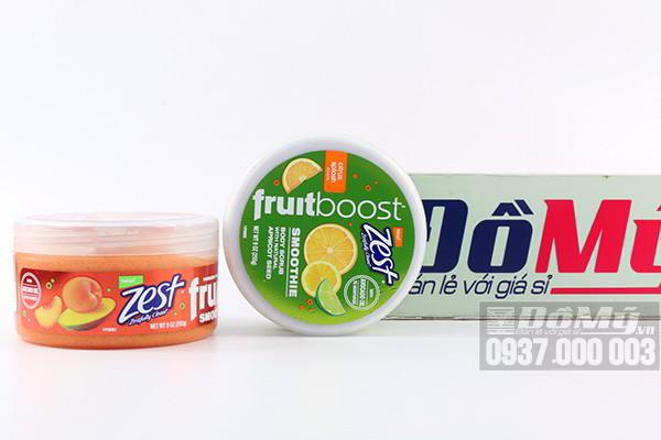 Tẩy tế bào chết Body Zest Fruitboost chiết xuất trái cây 255g của Mỹ