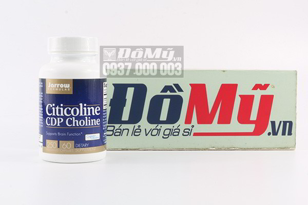 Viên uống bổ não, tăng cường trí nhớ Jarrow Formulas Citicoline CDP Choline 250mg 60 viên của Mỹ