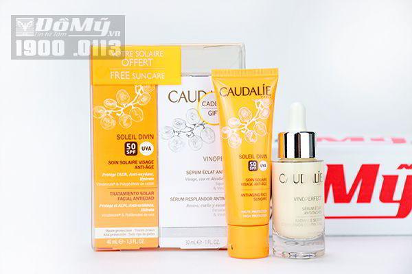 Serum trị nám Caudalie Paris 30ml và kem chống nắng của Pháp