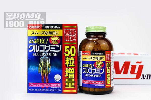 Viên uống Glucosamine 1500mg Orihiro của Nhật 900 viên