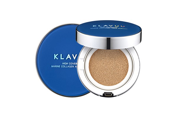 Phấn nước dưỡng ẩm Klavuu Blue Pearlsation High Coverage Marine Collagen Aqua Cushion SPF50+PA+++ 12g