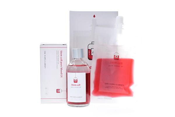 Set tinh chất tế bào gốc dưỡng trắng da se khít lỗ chân lông The Yoppa Garden Stem Cell Pure Blood EX (2 món)
