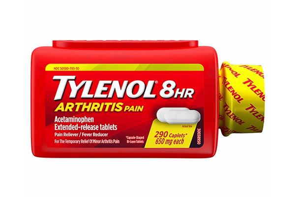 Viên uống giảm đau hạ sốt Tylenol 8Hr Arthritis Pain 290 viên 650mg của Mỹ