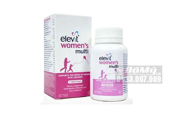 Viên uống Vitamin tổng hợp Elevit Women's Multi sau sinh 100 viên của Úc