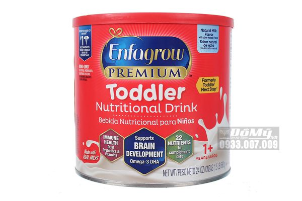 Sữa Enfagrow Non - GMO Premium Toddler Next Step 680g dành cho bé từ 1 -3 tuổi.