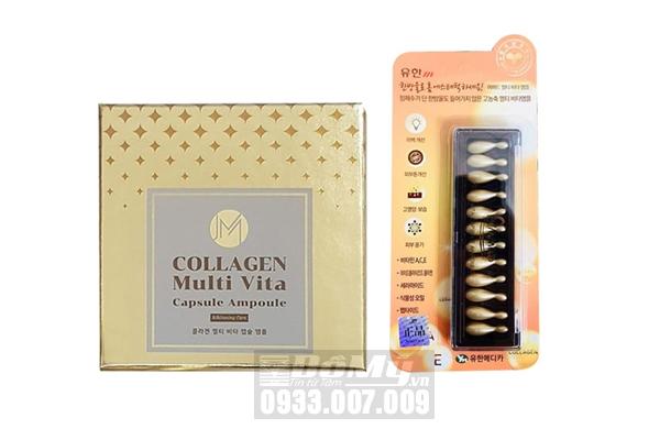 Vỉ 12 viên tinh chất collagen Ammud Multi Vita Ampoule