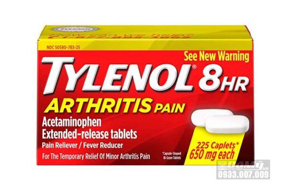 Viên uống giảm đau hạ sốt Tylenol 8Hr Arthritis Pain 225 viên 650mg của Mỹ