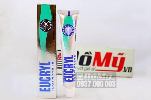 Kem tẩy trắng răng Eucryl vị bạc hà 62g của Anh