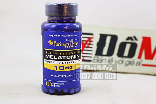 Viên uống trị mất ngủ Melatonin 10mg của Mỹ