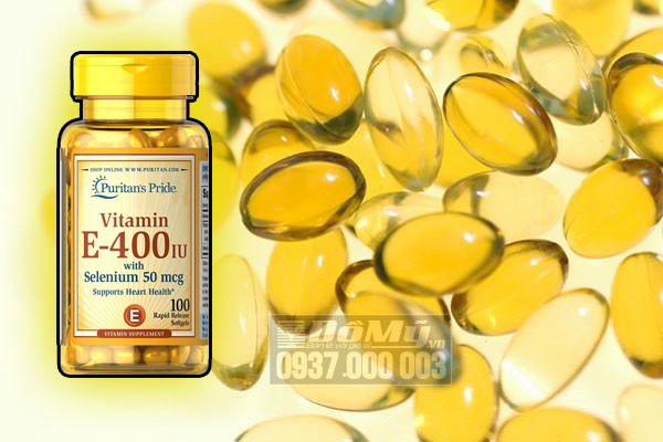 Puritan's Pride Vitamin E-400 iu with Selenium 50 mcg 100 viên của Mỹ