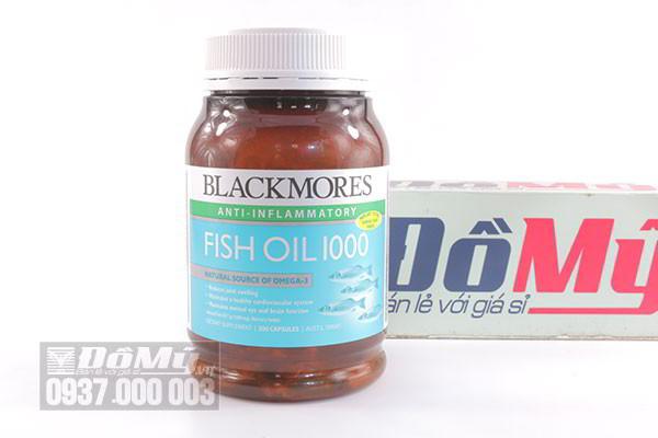 Viên uống Blackmores không mùi Omega 3 Fish Oil 1000mg 200 viên của Úc