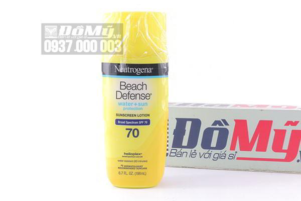 Kem chống nắng Neutrogena Beach Defense Sunscreen Lotion Broad Spectrum SPF 70 198ml của Mỹ