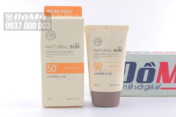 Kem chống nắng The Face Shop Natural Sun Eco Super Perfect Sun Cream SPF 50+ 50ml của Hàn Quốc