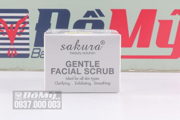 Kem tẩy tế bào chết cho da mặt Gentle Facial Scrub Sakura 30g của Nhật