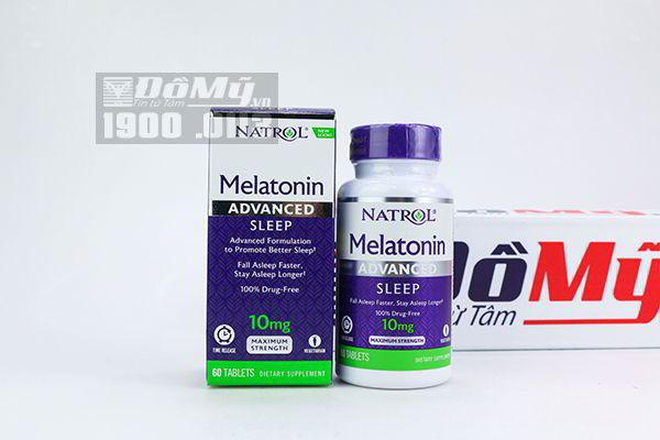 Viên uống cải thiện giấc ngủ Natrol Melatonin 10mg Fast Dissolve 60 viên của Mỹ