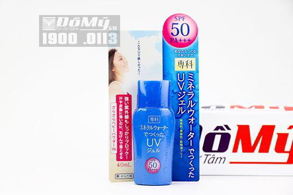 Kem chống nắng Shiseido Mineral Water Senka SPF 50/PA+++ 40ml