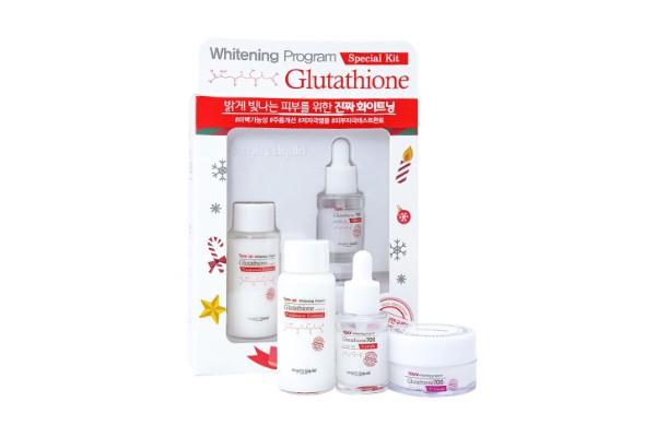 Bộ 3 món dưỡng trắng da, làm mờ thâm nám 7 DAY Angel's Liquid Whitening Program Glutathion Special Kit