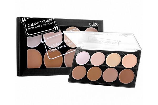 Set kem tạo khối và bắt sáng Odbo Creamy Volume Highlight & Contour