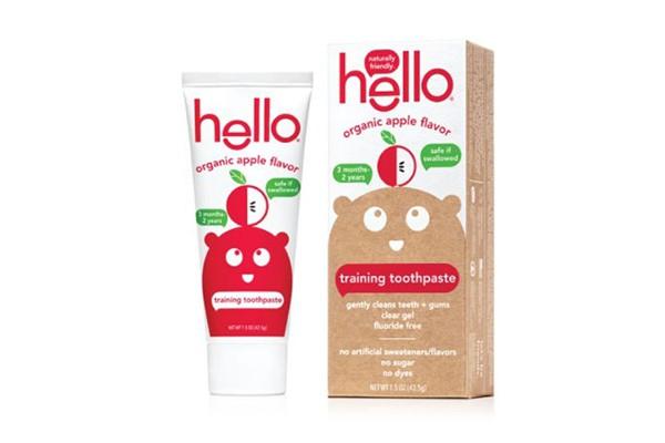 Kem đánh răng nướu Hello Organic vị táo hữu cơ cho bé từ 3 tháng - 2 tuổi
