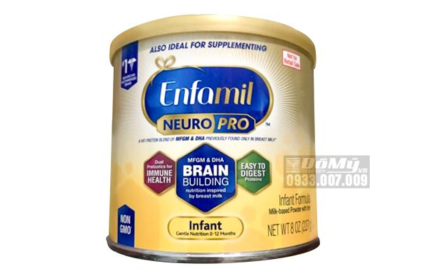 Sữa bột Enfamil Neuro Pro NON-GMO Infant Formula 227g