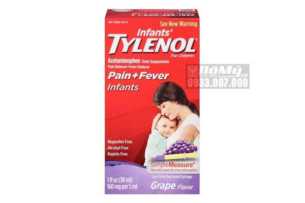 Siro Giảm Đau, Hạ Sốt Tylenol cho Trẻ Sơ Sinh 30ml