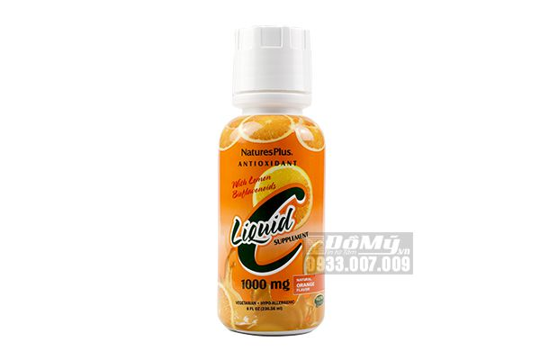 Nature's Plus Liquid C with Lemon Bioflavonoids Natural Orange 1000 mg 236.56ml-Mỹ