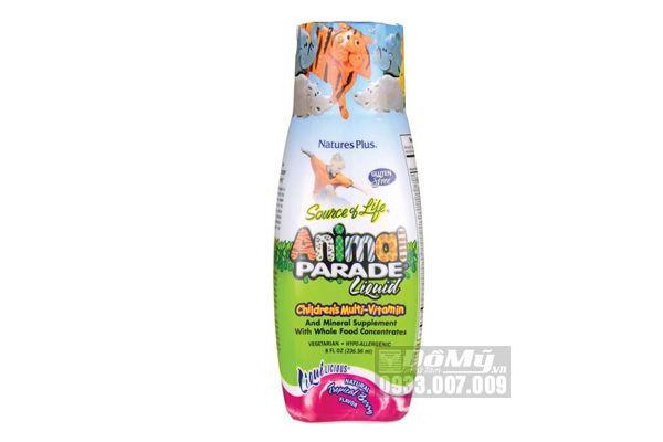 Vitamin tổng hợp cho trẻ Nature's plus Animal parade Liquid 236,56ml-Mỹ