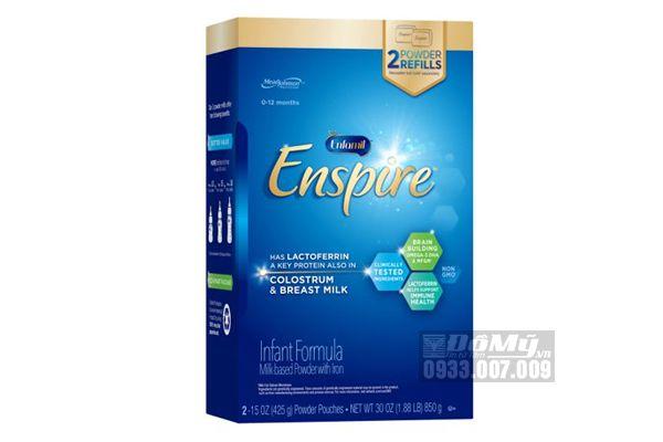 Sữa công thức Enfamil Enspire Infant Formula Non - GMO 850g của Mỹ dành cho bé từ 0 -12 tháng tuổi