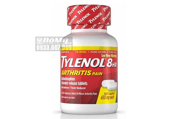 Viên uống giảm đau hạ sốt Tylenol 8Hr Arthritis Pain 100 viên 650mg của Mỹ