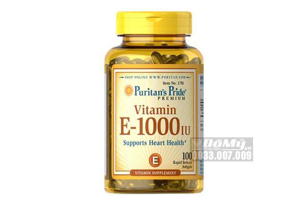 Viên uống Vitamin E-1000IU 450MG Puritan's Pride 100 viên-Mỹ