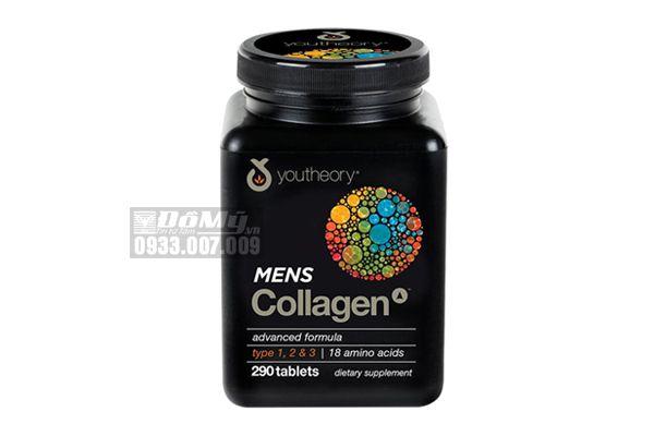 Viên uống bổ sung Collagen Youtheory Men's 290 viên dành cho nam giới - Mỹ