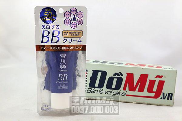 Kem trang điểm kết hợp kem chống nắng BB Kose Sekkisei SPF50+/PA++++ 30g của Nhật Bản