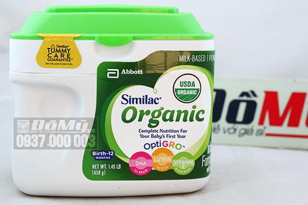 Sữa Similac Organic hữu cơ dành cho bé từ 0-12 tháng 658g nhập từ Mỹ