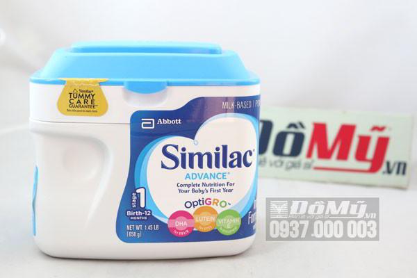 Sữa bột Similac Advance dành cho bé từ 0-12 tháng - Mỹ tổng thể
