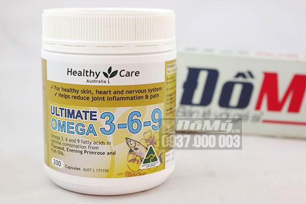 Viên uống bổ sung sức khỏe Healthy Care Ultimate Omega 3-6-9 200 viên của Úc