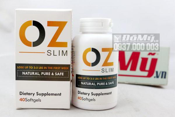 Viên uống giảm cân OZ Slim Natural, Pure & Safe 40 viên của Mỹ