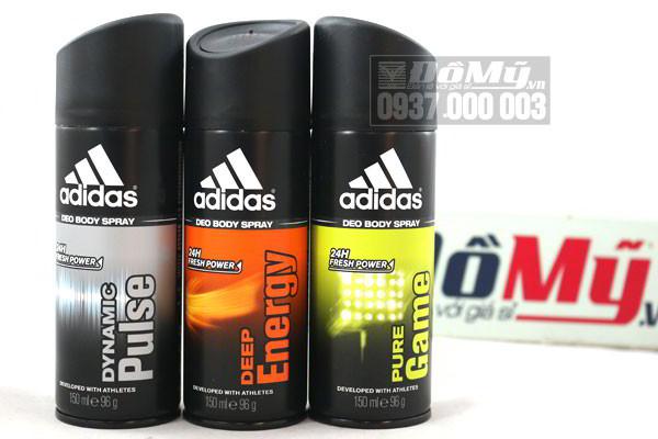 Chai xịt toàn thân nam Adidas 150ml của Châu Âu
