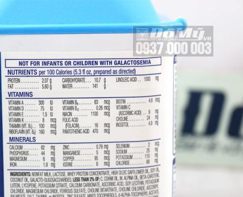 Sữa bột Similac Advance dành cho bé từ 0-12 tháng - Mỹ thành phần