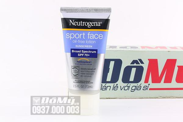 Kem chống nắng Neutrogena Sport Face Oil- Free Lotion SPF 70+ 73ml của Mỹ