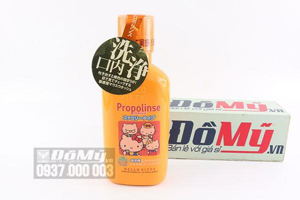 Nước súc miệng dành cho trẻ em Propolinse Hello Kitty 400ml của Nhật Bản